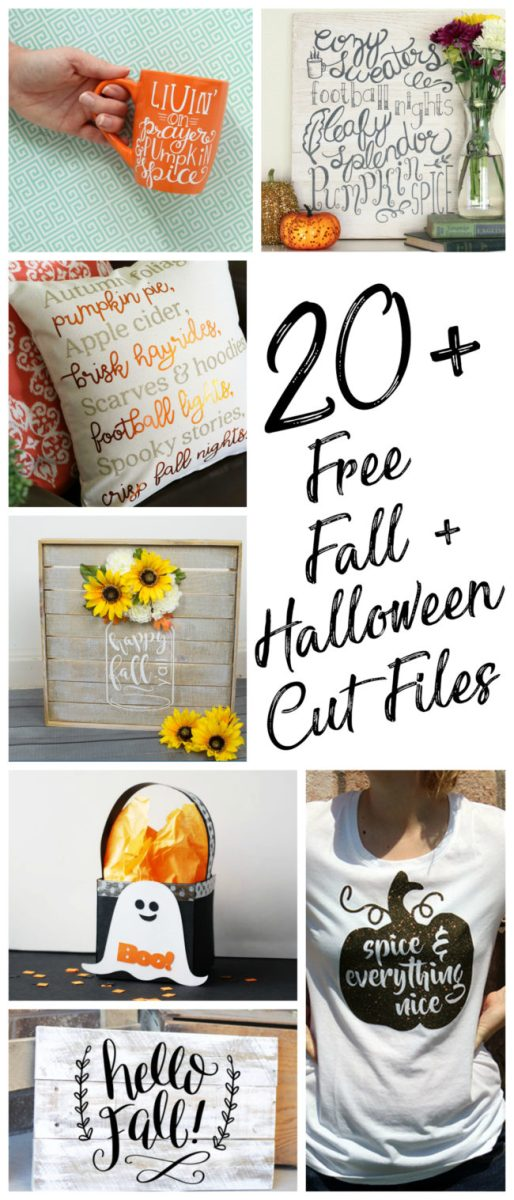 20 Free Fall and Halloween Cut Files Silhouette and Cricut Cutting Machines