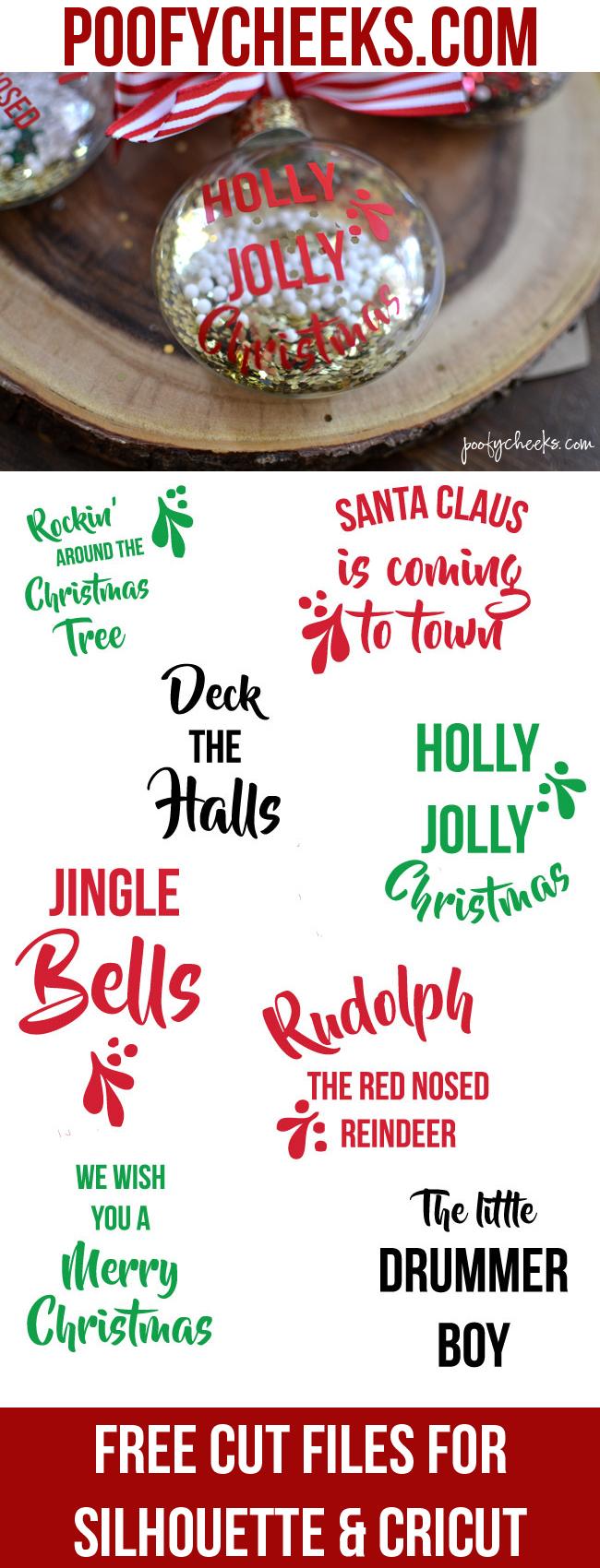 Download DIY Christmas Carol Ornaments - Free Cut File - Ornament ...