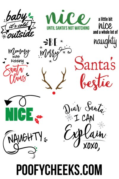 Christmas Cut Files for Cricut and Silhouette
