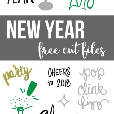 New Year Cut Files for Silhouette and Cricut – SVG and DXF Files