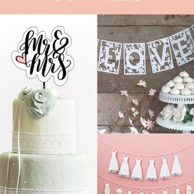 Over 15 Free Wedding Cut Files for Silhouette and Cricut