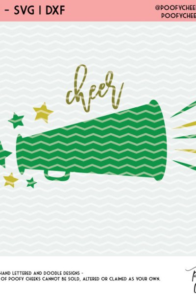 Cheerleading Cut File – Free Cut File for Silhouette and Cricut – SVG, DXF, PNG