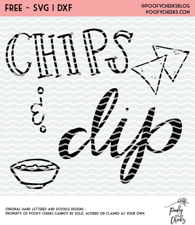 free cut file chips and dip cut file design for silhouette and