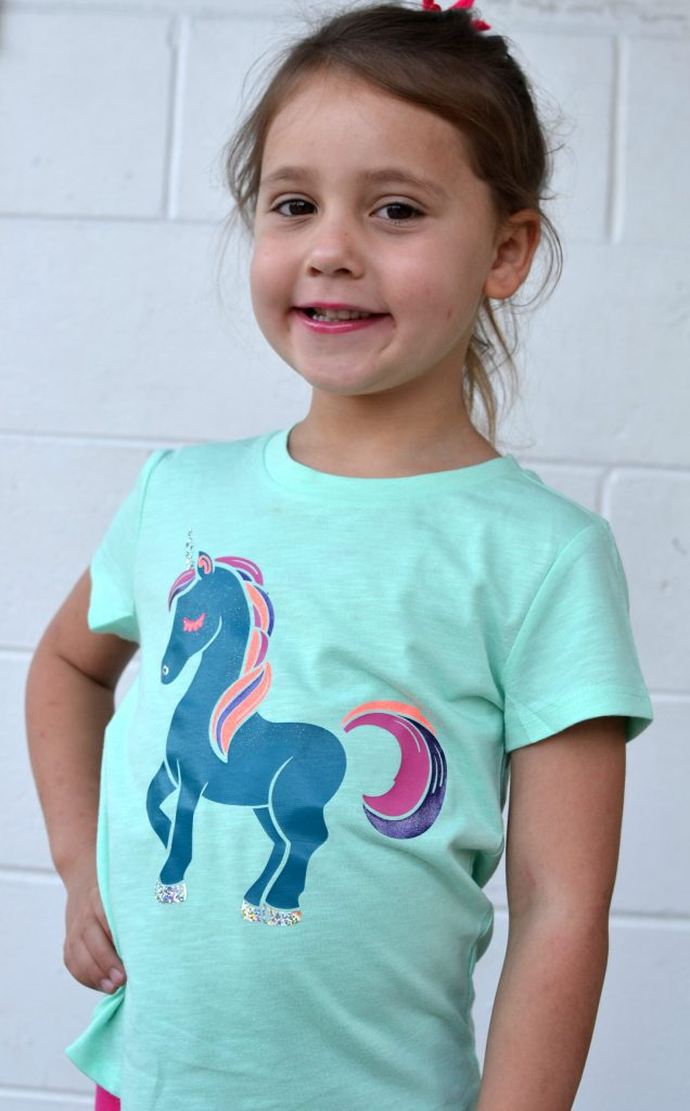 DIY Unicorn Shirt - A Unicorn shirt made with HTV and a Silhouette or Cricut.