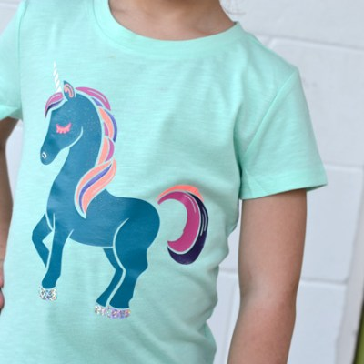Unicorn Shirt with Heat Transfer Vinyl – Use Cut Files with a Cricut or Silhouette