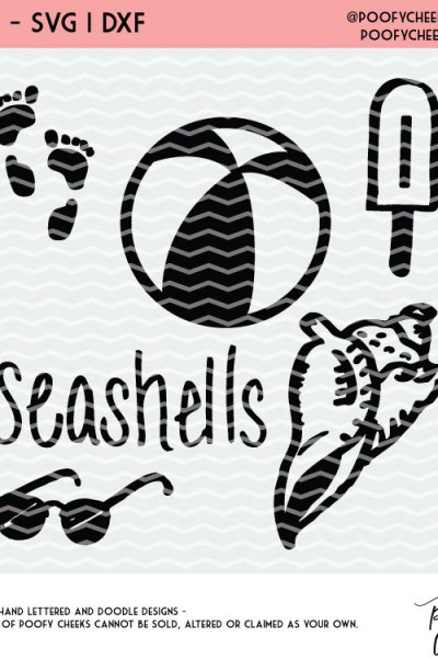 Fun Summer Cut Files – Beach Cut Files for Silhouette and Cricut Machines – DXF, PNG, SVG