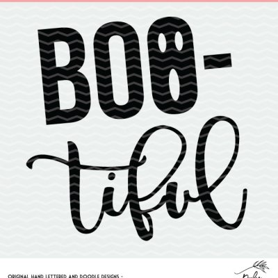 BOO-tiful Halloween Cut File – Free Design for Silhouette and Cricut
