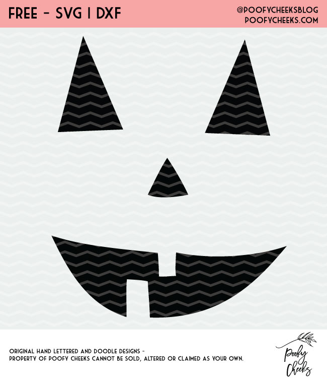 Pumpkin Face Halloween cut files for Silhouette and Cricut cutting machines. 3 free Halloween cut files.