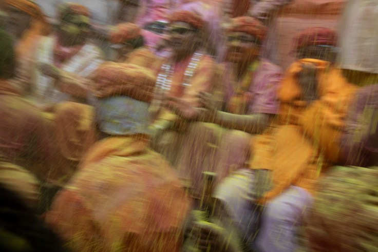 shower of colours at Lathmar Holi