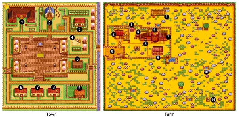 Harvest Moon (SNES) Map