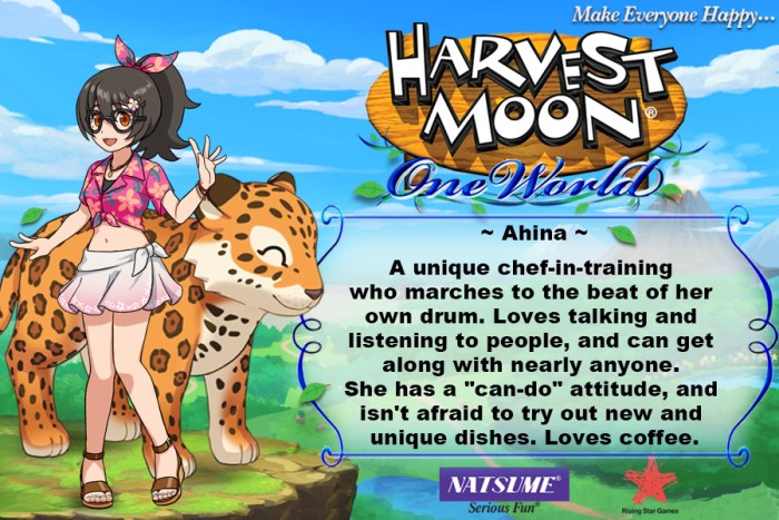 Ahina - Harvest Moon: One World
