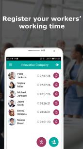 Work time tracking, work schedule – Worker 24