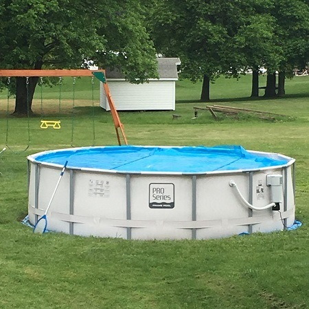 Intex Solar Cover for 12ft Diameter Easy Set and Frame Pools In Pool