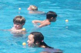 swimming pool games - ping pong balls