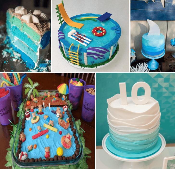 pool part cake ideas