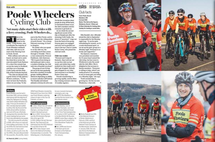 Poole Wheelers featured in Cycling Weekly
