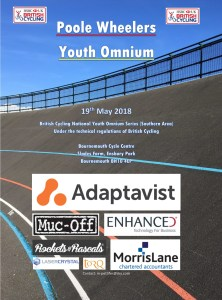 Entries now open for the 2018 Poole Wheelers Youth Omnium