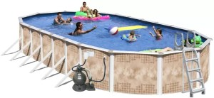 Splash Pools Oval Deluxe Above-Ground Set