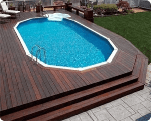 Above-ground Pool with Terraced Deck