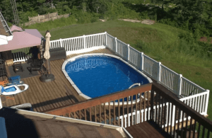 Oval Above-Ground Pool Deck