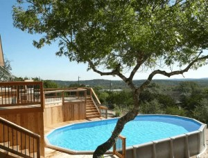 Above-Ground Pool in the Hills Deck