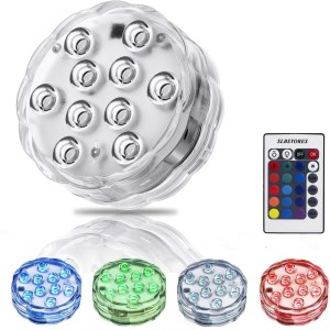 SLBSTORES 10-LED RGB Submersible LED Light