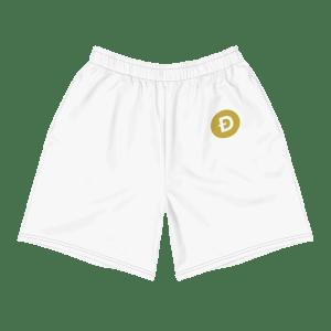 Dogecoin Logo Men's Athletic Long Shorts