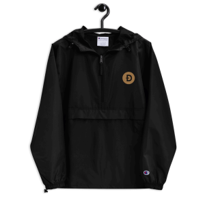 Dogecoin Logo Embroidered Champion Packable Jacket