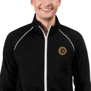 Dogecoin Logo Piped Fleece Jacket