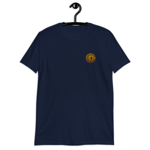 Dogecoin 3D Logo Short-Sleeve Unisex T-Shirt