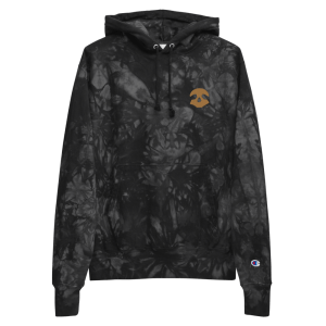 Pirate Skull Unisex Champion tie-dye hoodie