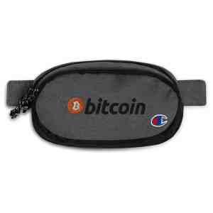 Bitcoin Full Logo Champion fanny pack