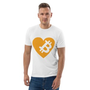 Love Bitcoin Unisex organic cotton t-shirt