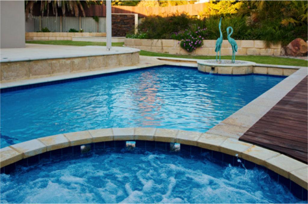 fibreglass pool and spa