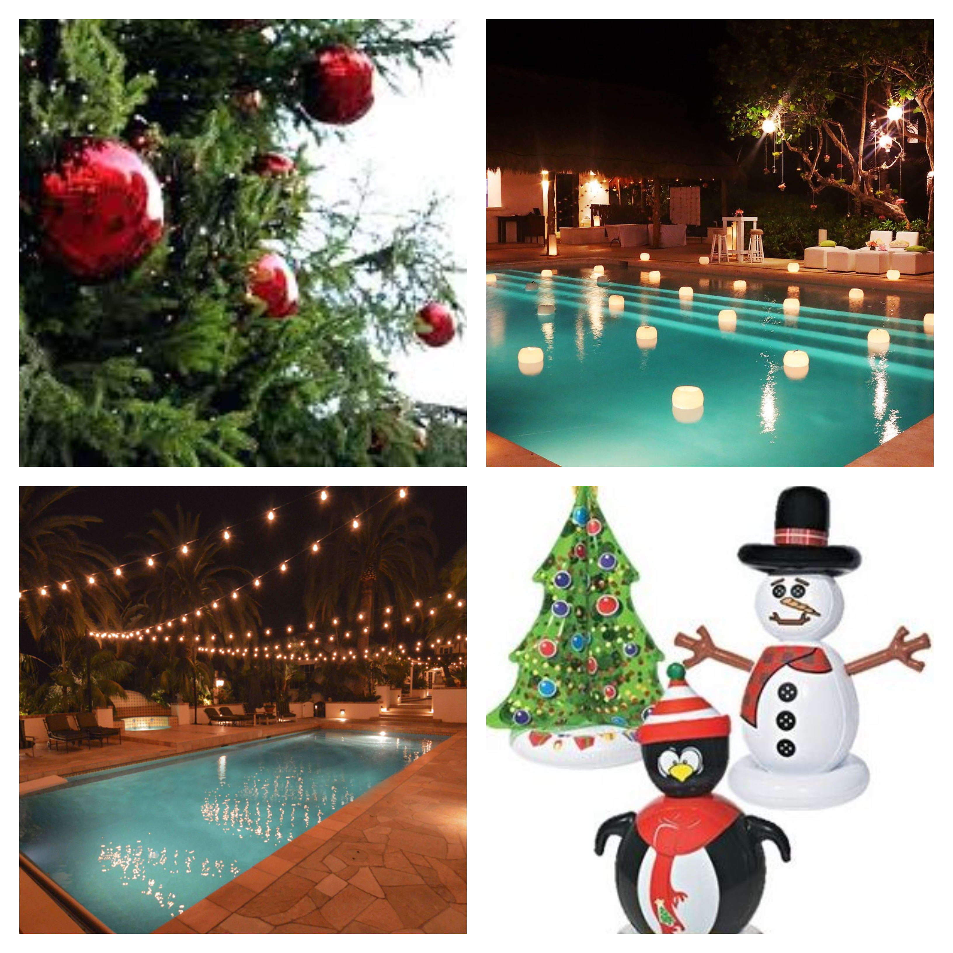 Winter Holiday Outdoor Decor For Your Central Florida Pool