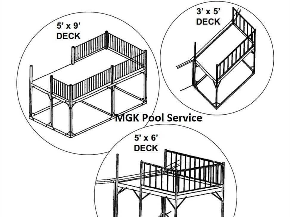 above ground pool deck cost