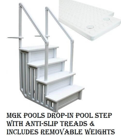Above-ground pool steps