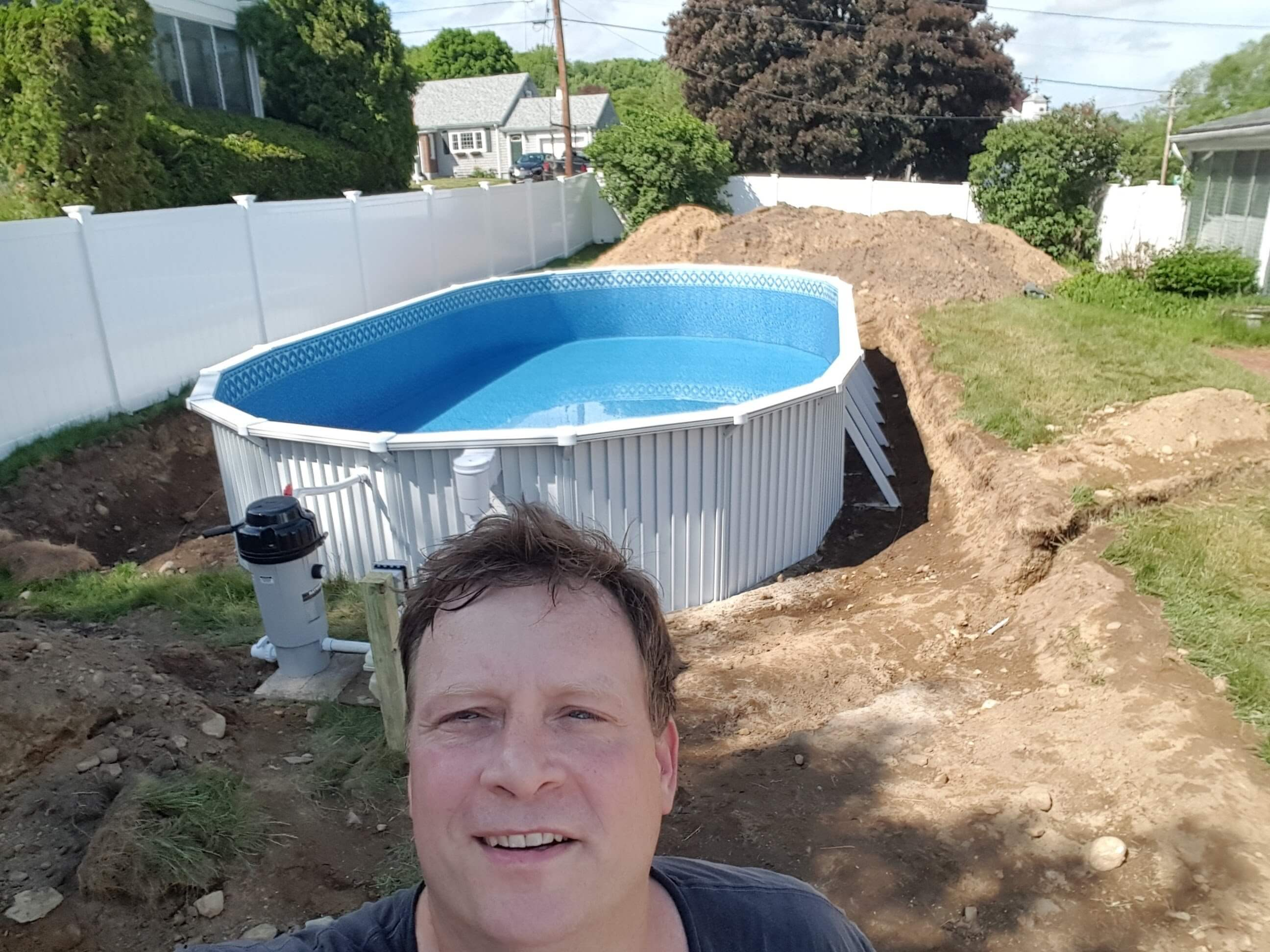 Semi inground pools brands options prices reviews and advice - Above ground swimming pools reviews ...