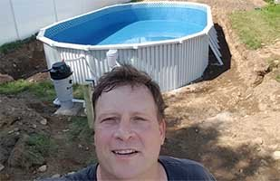 best above ground pool with owner