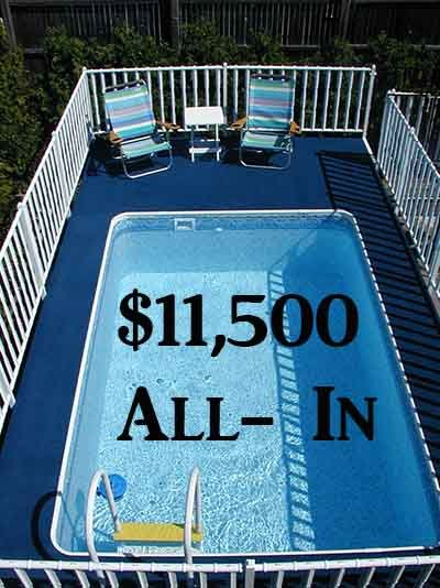 Pool Financing - Above ground pool