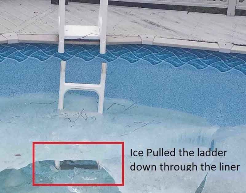 Winter Damage to Above Ground Pools 2018 - Causes Repairs ...