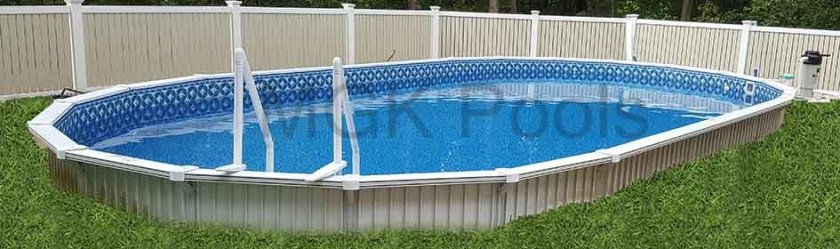 Semi inground pools brands options prices reviews and advice for Prices of above ground swimming pools