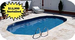 In-ground pool deal button