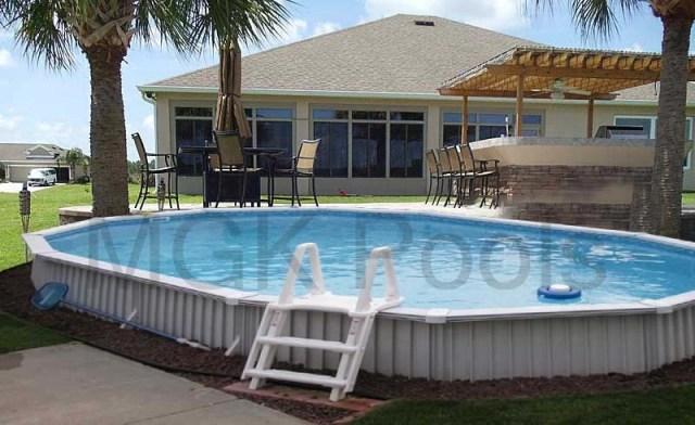 Aquasport 52 Semi Inground Pool