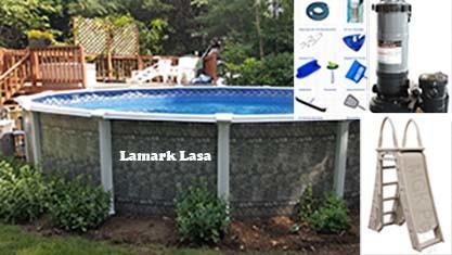 Lamark Lasa above ground pool package