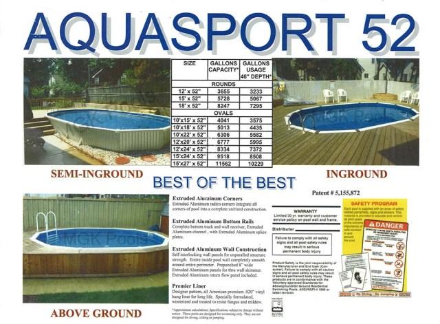 Page 2 Original Aquasport 52 Brochure pdf