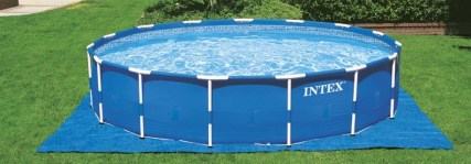 Intex 18ft X 48in Metal Frame Pool Set ground cloth