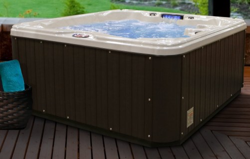 American Spas AM-630LS 5-Person 30-Jet Lounger Spa with Backlit LED Waterfall
