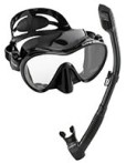 Cressi Scuba Diving Snorkeling Freediving Mask Snorkel Set