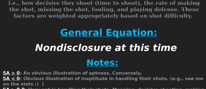 Shot Aptitude (Pool Sambermetric)